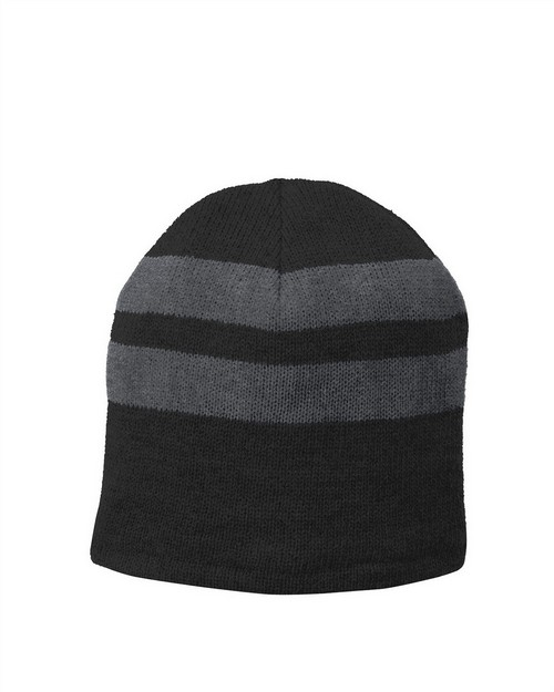 Port & Company C922 Fleece Lined Striped Beanie Cap