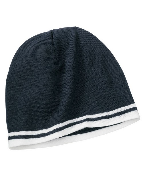 Port & Company CP93 Fine Knit Skull Cap with Stripes