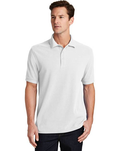 Port & Company KP1500 Mens Ring Spun Pique Polo Shirt