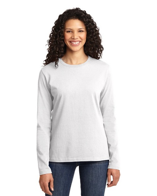 Port & Company LPC54LS by Port Authority Ladies Long Sleeve 5.4-oz 100% Cotton T Shirt
