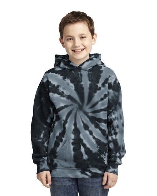 Port & Company PC146Y by Port Authority Youth Essential Tie-Dye Pullover Hooded Sweatshirt