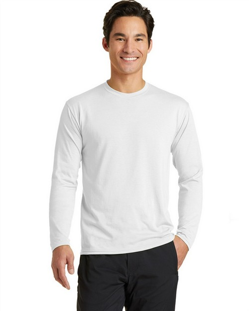 Port & Company PC381LS Long Sleeve Essential Blended Performance Tee