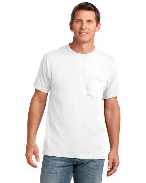 Port & Company PC54P by Port Authority 5.4-oz 100% Cotton Pocket T-Shirt
