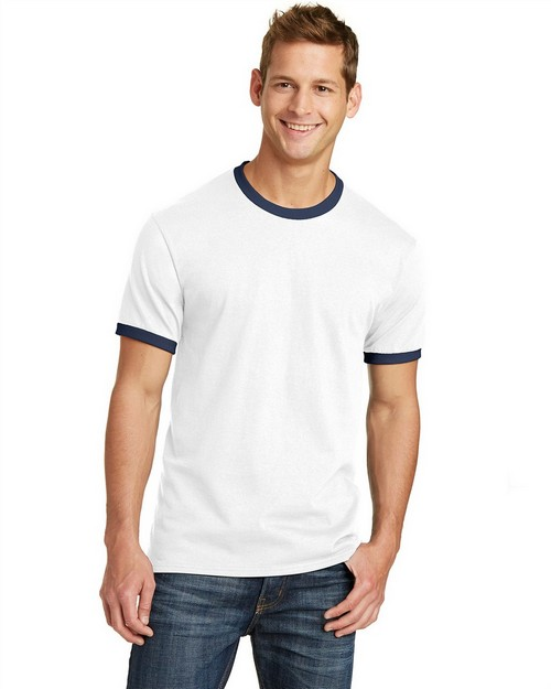 Port & Company PC54R 5.4-Oz 100% Cotton Ringer Tee