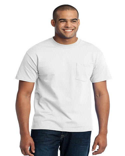 Port & Company PC55P T-Shirt w/ Pocket