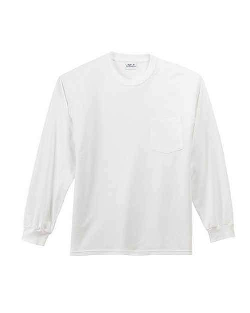 Port & Company PC61LSP Long Sleeve Essential Pocket T-Shirt