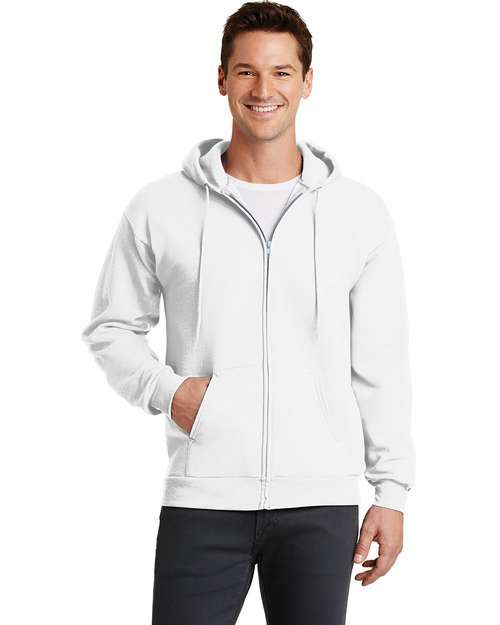 Port & Company PC78ZH 7.8-oz Full-Zip Hooded Sweatshirt
