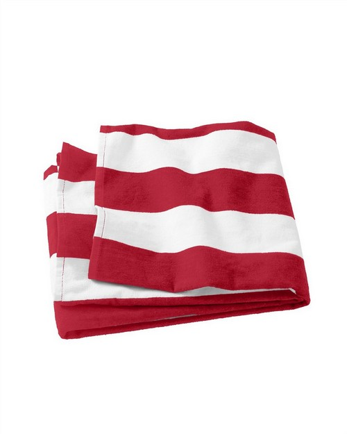 Port & Company PT43 Cabana Stripe Beach Towel