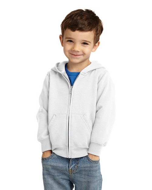 Port & Company CAR78TZH Toddler Full-Zip Hooded Sweatshirt
