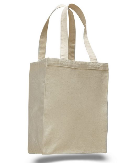 Q-Tees Q1000 12L Canvas Gusset Shopping Tote