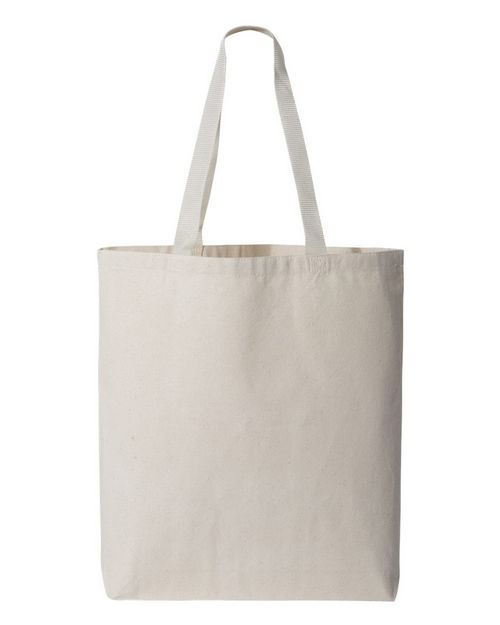 Q-Tees Q4400 11L Canvas Tote With Color Handles