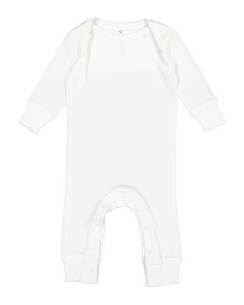 Rabbit Skins 4412 Infant Long-Sleeve Baby Rib Coverall