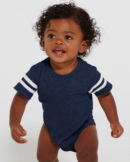 Rabbit Skins 4437 Infant Fine Jersey Football Bodysuit