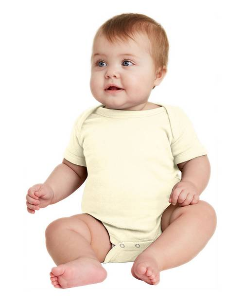 Rabbit Skins RS4400 Infant Short Sleeve Baby Rib Bodysuit