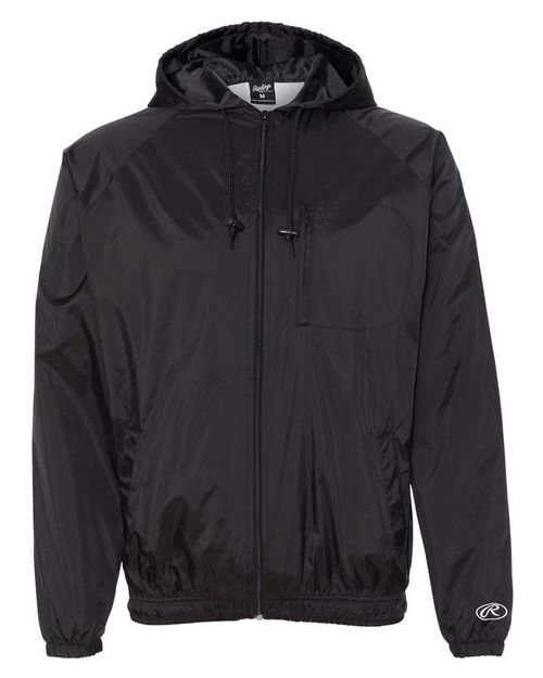 Rawlings 9728 Mens Hooded Full-Zip Wind Jacket