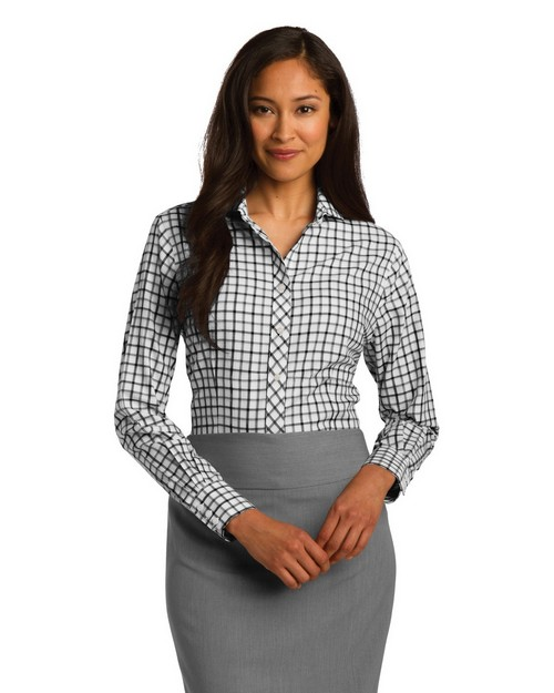 Red House RH75 Ladies Tricolor Check Non-Iron Shirt