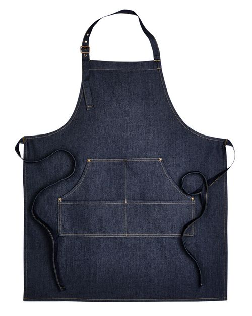 Artisan Collection RP126 Unisex Jeans Stitch Denim Bib Apron