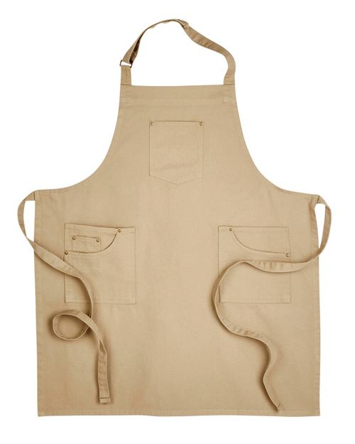 Artisan Collection RP132 Unisex Cotton Chino Bib Apron