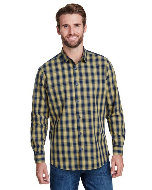 Artisan Collection RP250 Mens Mulligan Check Long-Sleeve Cotton Shirt