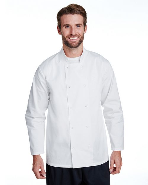 Artisan Collection RP665 Unisex Studded Front Long-Sleeve Chefs Jacket
