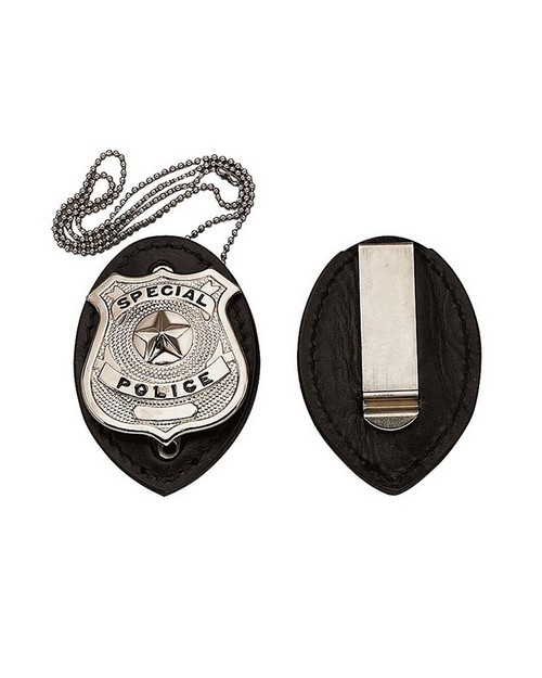 Rothco 1131 Leather Clip-On Badge Holder