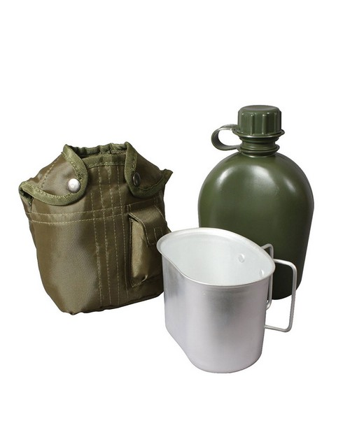 Rothco 1140 3 Piece Canteen Kit With Cover & Aluminum Cup