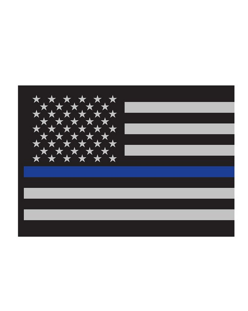 Rothco 1293 Thin Blue Line Flag Decal
