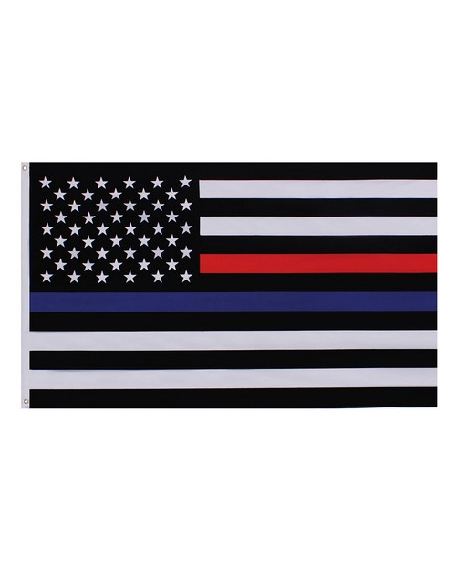 Rothco 14456 Thin Blue and Thin Red Line Flag