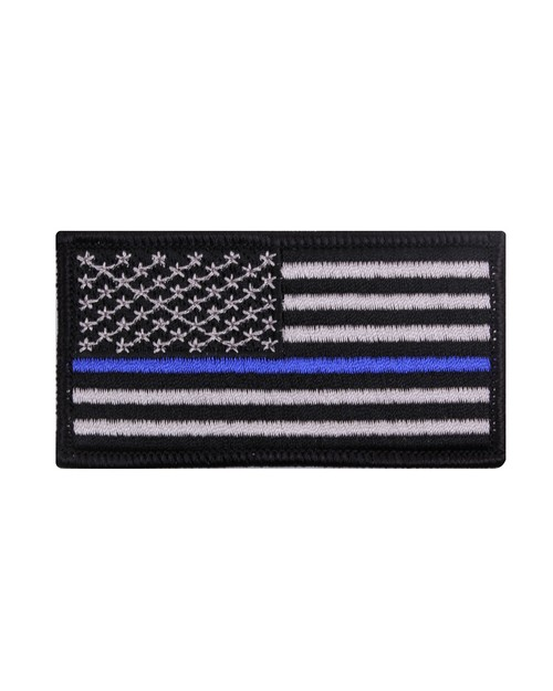 Rothco 1709 Thin Blue Line Flag Patch - Iron On