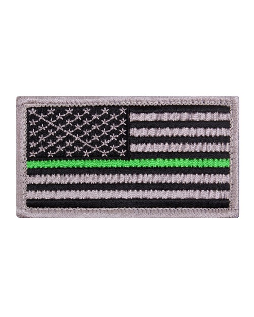 Rothco 1893 Thin Green Line US Flag Patch