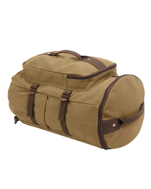 Rothco 2225 Convertible 19 Canvas Duffle/Backpack - Coyote & Brown