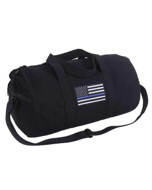 Rothco 2230 Thin Blue Line Canvas Shoulder Duffle Bag