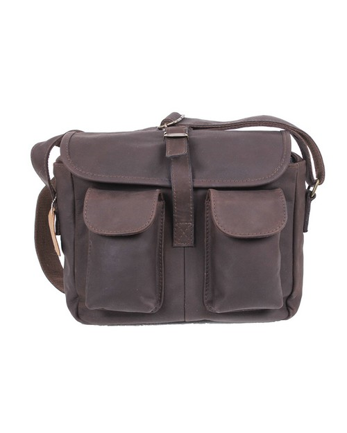 Rothco 22770 Brown Leather Ammo Shoulder Bag