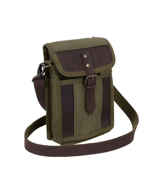 Rothco 2349 Canvas Travel Portfolio Bag With Leather Accents
