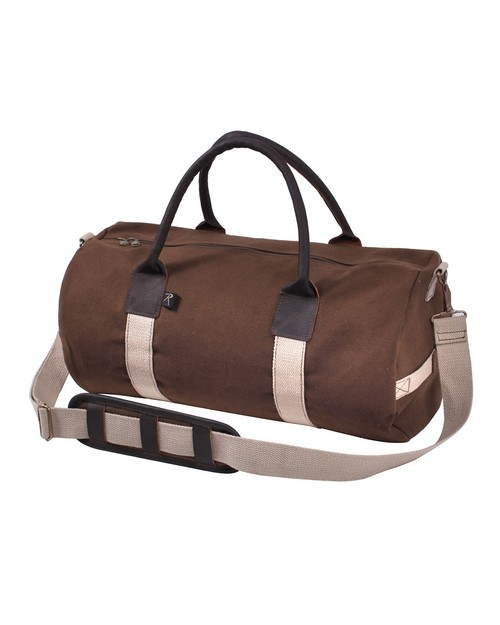 Rothco 2621 Canvas & Leather Gym Duffle Bag