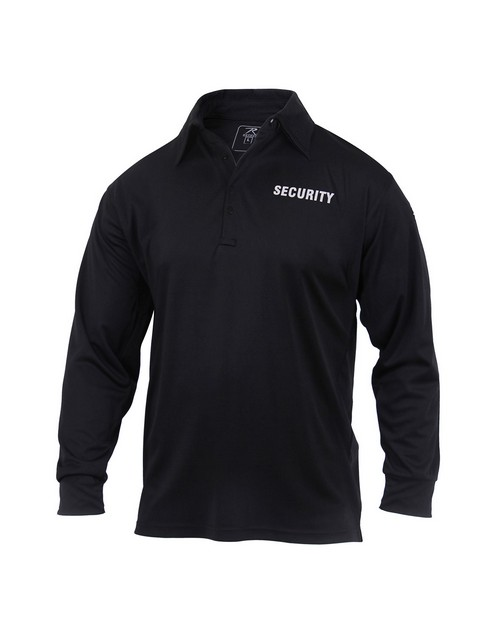 Rothco 2716 Moisture Wicking Long Sleeve Security Polo