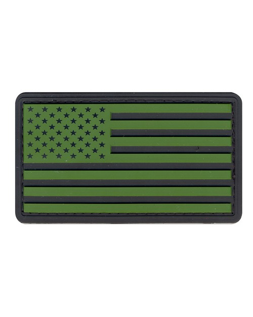 Rothco 27781 PVC US Flag Patch With Hook Back