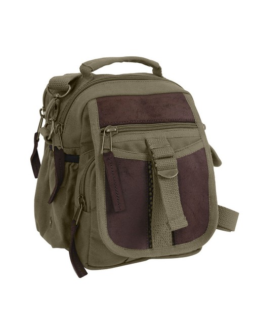 Rothco 2815 Canvas & Leather Travel Shoulder Bag
