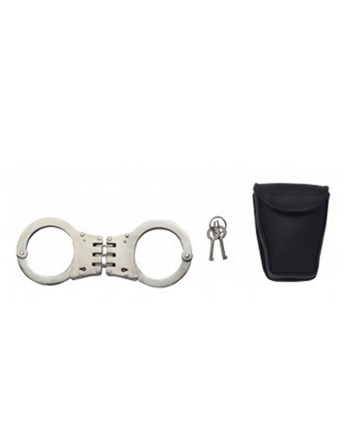 Rothco 30092 Deluxe Hinged Handcuffs / Nickel Plated