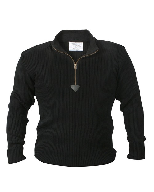 Rothco 3370 Quarter Zip Acrylic Commando Sweater