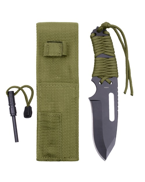 Rothco 36741 Large Paracord Knife With Fire Starter