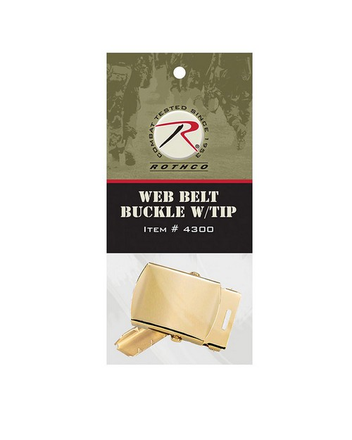 Rothco 4300 G.I. Type Web Belt Buckle And Tip Pack
