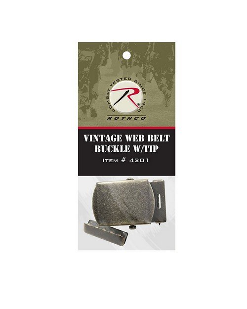 Rothco 4301 Vintage Web Belt Buckle & Tip Pack