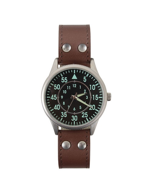 Rothco 4338 Military Style Watch With Leather Strap