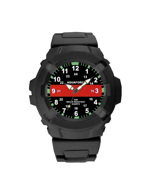 Rothco 4391 Aquaforce Thin Red Line Watch