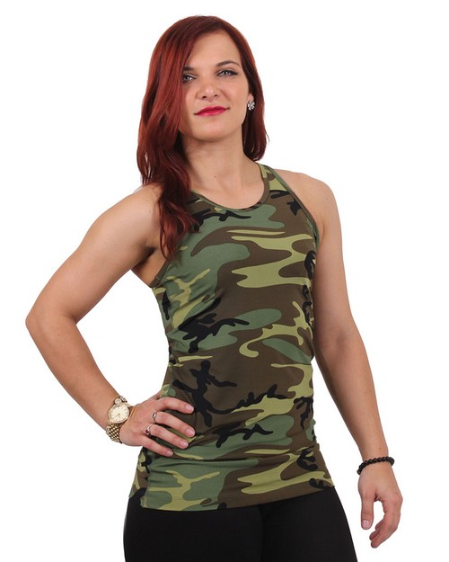 Rothco 44080 Women's Camo Workout Performance Tank Top