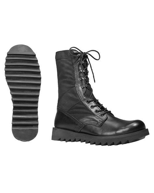 Rothco 5050 Black Ripple Sole Jungle Boots