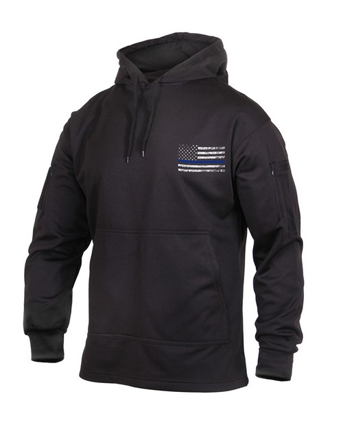 Rothco 52071 Thin Blue Line Concealed Carry Hoodie
