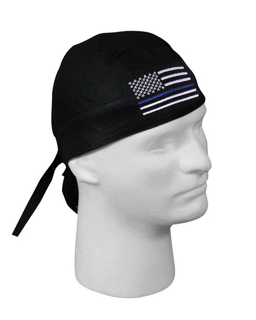 Rothco 55187 Thin Blue Line Flag Headwrap