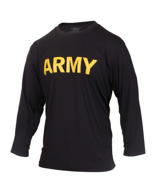Rothco 56020 Long Sleeve Army PT Shirt